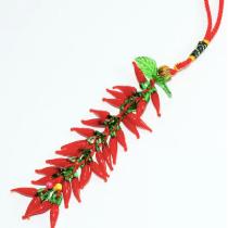 開運琉璃紅辣椒吊飾