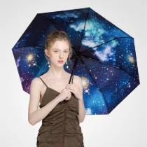 銀河星空晴雨摺疊傘